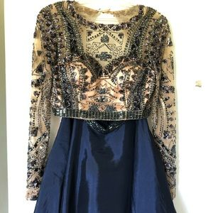 Beautiful two-piece Sherri hill dress.